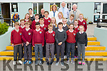 Sixth class pupils from Fenit National School were presented with Junior Pioneer Pins and Certificates of Spa Parish PTAA on, Tuesday 26th. Pictured with the Students were Caroline O'Connor, (teacher), Mark O'Brien, PTAA, Ailing O'Sullivan (Principal), Billy Ryle, PTAA and Brendan Murphy, PTAA