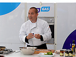 Ciaran Moran from Moran Homestore gives a cookery demonstration at The Taste of Togher festival held in the Linn Duachaill Restaurant at the Glyde Inn Annagassan. Photo:Colin Bell/pressphotos.ie