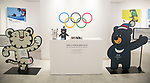 PyeongChang Winter Olympics Mascot, Oct 30, 2017 : The 2018 PyeongChang Winter Olympics mascot Soohorang (L) and Paralympics mascot Bandabi are displayed in Gangneung, east of Seoul, South Korea. The 2018 PyeongChang Winter Olympics will be held for 17 days from February 9 - 25, 2018. The opening and closing ceremonies and most snow sports will take place in PyeongChang county. Jeongseon county will host Alpine speed events and ice sports will be held in the coast city of Gangneung. (Photo by Lee Jae-Won/AFLO) (SOUTH KOREA)