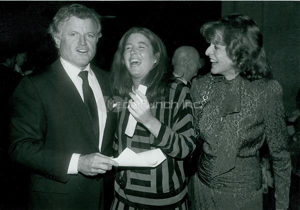 Ted Kennedy, Patrick Lawford <br /> Kennedy & daughter 1986<br /> Photo By John Barrett-PHOTOlink.net / MediaPunch
