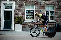 Roger Kluge (DEU/Mitchelton Scott) on his way to the pre race recon.<br /> <br /> Binckbank Tour 2018 (UCI World Tour)<br /> Stage 2: ITT Venray (NL) 12.7km