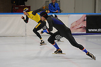 SCHAATSEN: LEEUWARDEN, 22-10-2016, Elfstedenhal,  KNSB Trainingswedstrijden, Jesper Hospes, ©foto Martin de Jong