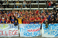 FDMC fans during te traditional 1st XV rugby union match between New Plymouth Boys' High School and Francis Douglas Memorial College at Yarrow Stadium in New Plymouth, New Zealand on Saturday, 6 May 2017. Photo: Dave Lintott / lintottphoto.co.nz