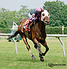 Rose Brier winning at Delaware Park racetrack on 6/25/14