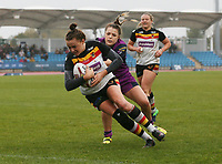 Picture by Paul Currie/SWpix.com - 07/10/2017 - Rugby League - Women's Super League Grand Final - Bradford Bulls v Featherstone Rovers - Regional Arena, Manchester, England - Claire Garner of Bradford Bulls scores a try