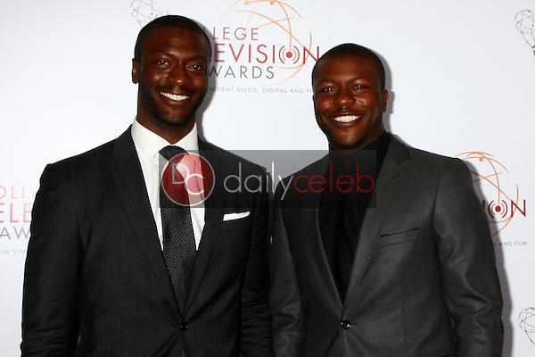 Aldis Hodge, Edwin Hodge<br /> at the 2013 College Television Awards, JW Marriott, Los Angeles, CA 04-25-13<br /> David Edwards/DailyCeleb.Com 818-249-4998