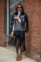 Ramya Giangola attends Day 3 of New York Fashion Week on Feb 14, 2015 (Photo by Hunter Abrams/Guest of a Guest)