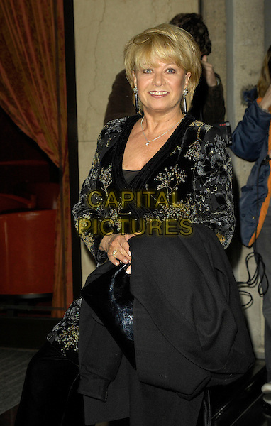ELAINE PAIGE.Arrivals - Laurence Olivier Awards at the Grosvenor Hotel, Park Lane, London, UK..February 18th, 2007.half length black top gold detail.CAP/CAN.©Can Nguyen/Capital Pictures