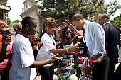United States President Barack Obama greets people outside Fred's Pro Hardware store in Toledo, Ohio, June 3, 2011. .Mandatory Credit: Pete Souza - White House via CNP