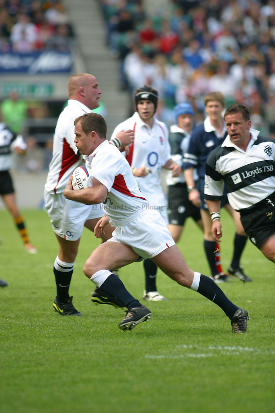 Photo. Jo Caird..England v Barbarians. Lloyds TSB Tour at Twickenham. 25/05/2003..Kyran Bracken.
