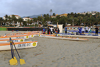 San Remo, ITALY,  Sunday, Pleasure Row and Bach Area. 2008 FISA Coastal World Championships. Sunday 19/10/2008. [Photo, Peter Spurrier/Intersport-images] Coastal Rowing Course: San Remo Beach, San Remo, ITALY Equipment,