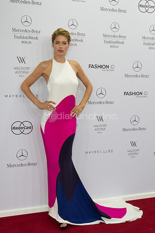Doutzen Kroes attending the Mercedes-Benz press vernissage during Mercedes-Benz Fashion Week Berlin Spring/Summer 2016, Berlin, Germany, 09.07.2015. <br /> Photo by Christopher Tamcke/insight media /MediaPunch ***FOR USA ONLY***