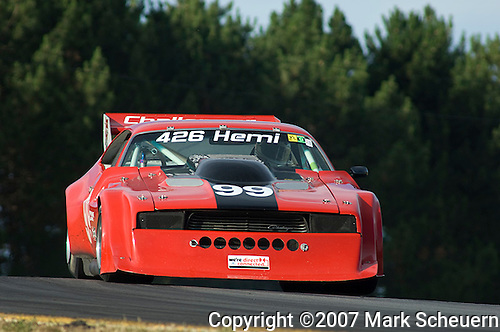 Former IMSA champion Phil Currin races a 1974 Dodge Challenger.