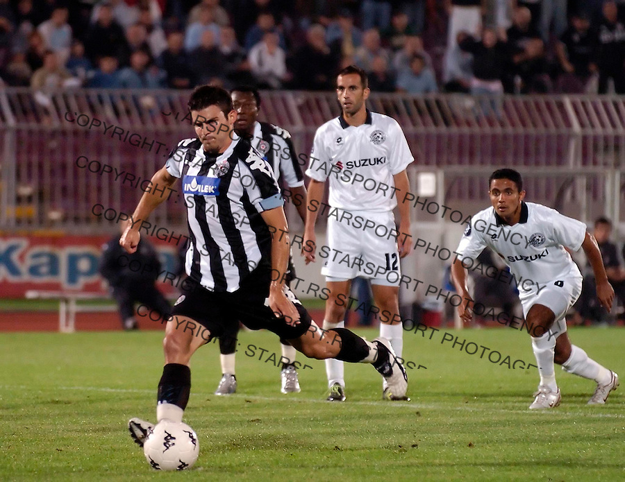 FUDBAL,KUP UEFA, KVALIFIKACIJE SEZONA 2005/2006&amp;#xA;PARTIZAN-MAKABI TIKVA (IZRAEL)&amp;#xA;SIMON VUKCEVIC&amp;#xA;BGD, 30.09.2005.&amp;#xA;FOTO: SRDJAN STEVANOVIC<br />