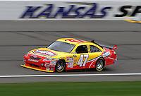 Oct. 3, 2009; Kansas City, KS, USA; Nascar Sprint Cup Series driver Marcos Ambrose during practice for the Price Chopper 400 at Kansas Speedway. Mandatory Credit: Mark J. Rebilas-