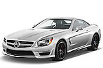 Front three quarter view of a 2013 Mercedes-Benz SL-Class SL63 AMG Convertible