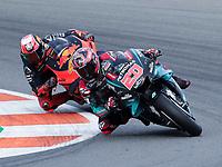 MotoGP race of Valencia 2019 at  Ricardo Tormo circuit on November 17, 2019.<br /> FABIO QUARTARARO (20) AND POL ESPARGARO (44)