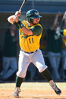 Wayne State Warriors infielder A.J. Matos #11 during a game against Slippery Rock at Chain of Lakes Stadium on March 15, 2013 in Winter Haven, Florida.  Illinois State defeated Long Island 6-4.  (Mike Janes/Four Seam Images)