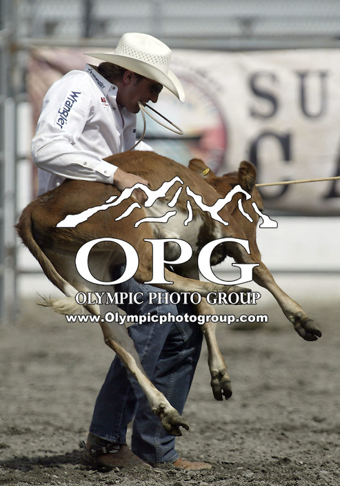 29 Aug 2009:   Stetson Vest scored a time of in 9.8 the Tie Down Roping competition at the Kitsap County Wrangler Million Dollar PRCA Pro Rodeo Tour in Bremerton, Washington.