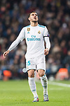 Theo Hernandez of Real Madrid reacts during the Europe Champions League 2017-18 match between Real Madrid and Borussia Dortmund at Santiago Bernabeu Stadium on 06 December 2017 in Madrid Spain. Photo by Diego Gonzalez / Power Sport Images