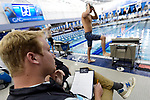 GREENSBORO, NC - MARCH 15: A volunteer looks on during the Division II Men's and Women's Swimming & Diving Championship held at the Greensboro Aquatic Center on March 15, 2018 in Greensboro, North Carolina. (Photo by Mike Comer/NCAA Photos/NCAA Photos via Getty Images)
