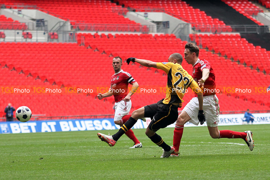 Christian Jolley (Newport County AFC) scores for Newport - Newport County vs Wrexham - Blue Square Conference Play-Off Final Football at Wembley Stadium - 05/05/13 - MANDATORY CREDIT: Mick Kearns/TGSPHOTO - Self billing applies where appropriate - 0845 094 6026 - contact@tgsphoto.co.uk - NO UNPAID USE.
