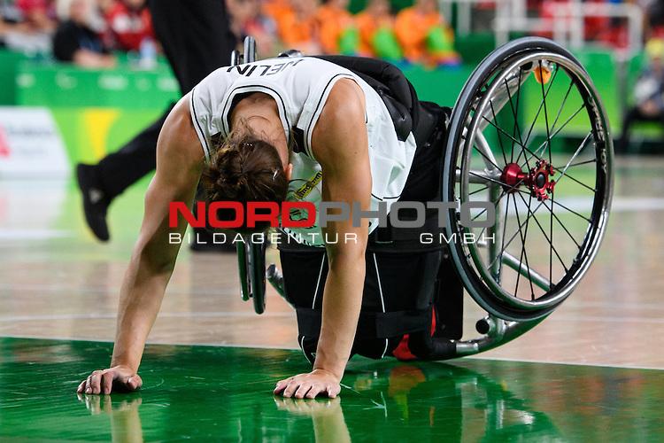 16.09.2016, Rio de Janeiro, Olympische Arena<br />Paralympische Spiele, Rollstuhl Basketball Frauen, Finale, Deutschland (GER) vs. USA<br /><br />Johanna Welin (#5 GER)<br /><br />  Foto &copy; nordphoto / Kurth