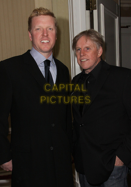 JAKE & GARY BUSEY.Night of 100 Stars - Arrivals held at the Beverly Hills Hotel, Beverly Hills, California, USA..March 7th, 2010.half length black suit jacket father dad son family.CAP/ADM/TC.©T. Conrad/AdMedia/Capital Pictures.