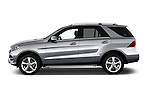 Car Driver side profile view of a 2016 Mercedes Benz GLE-Class GLE300d 5 Door SUV Side View