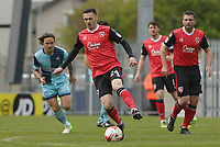 MICHAEL ROSE on the attack for Morecambe during the Sky Bet League 2 match between Morecambe and Wycombe Wanderers at the Globe Arena, Morecambe, England on 29 April 2017. Photo by Stephen Gaunt / PRiME Media Images.