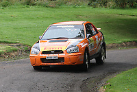 Jock Armstrong / Kirsty Riddick near Junction 10 on the Gleaner Oil & Gas Cooper Park Special Stage 2 of the Gleaner Oil & Gas Speyside Stages Rally 2012, Round 6 of the RAC MSA Scotish Rally Championship which was organised by The 63 Car Club (Elgin) Ltd and based in Elgin on 4.8.12.......