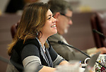 Nevada Assemblywoman Teresa Benitez Thompson, D-Reno, works in committee at the Legislative Building in Carson City, Nev., on Thursday, May 7, 2015.<br /> Photo by Cathleen Allison
