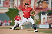Erie SeaWolves pitcher Zac Houston (41) during an Eastern League game against the Richmond Flying Squirrels on August 28, 2019 at UPMC Park in Erie, Pennsylvania.  Richmond defeated Erie 6-4 in the first game of a doubleheader.  (Mike Janes/Four Seam Images)