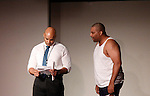 Melvin Huffnagle & Layon Gray - Layon Gray's Kings of Harlem - a story about the Harlem Rens who were one of the dominant basketball teams of the 1920's and 1930's - had a special show on September 15, 2015 at St. Luke's Theatre, New York City, New York. The play stars Melvin Huffnagle, Thaddeus Daniels, Ade Otukoya, Lamar Cheston, Delano Barbosa, Jeantique Oriol and Layon Gray.  (Photo by Sue Coflin/Max Photos)