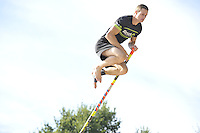 FIERLJEPPEN: BURGUM: 10-09-2016, Pollepleats Nationale Competie, Nard Brandsma, ©foto Martin de Jong