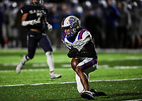 NWA Democrat-Gazette/CHARLIE KAIJO Arkadelphia High School defensive back Victor Tademy (3) drops a pass during a Class 4A semi-final playoff football game, Saturday, December 1, 2018 at Champions Stadium at Shiloh Christian High School in Springdale.