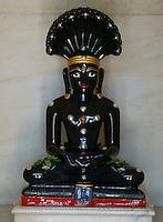 sculpture of thirthankar, holy Jain teacher in Jain temple, Fort Jaisalmer, Rajastan, India