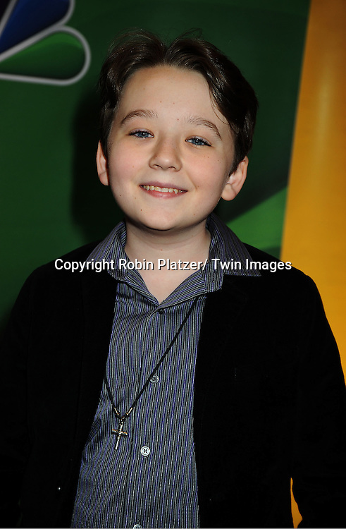 "Benjamin Stockham  of ""About A Boy"" arrives at the NBC Upfront Presentation for 2013-2014 Season on May 13, 2013 at Radio City Music Hall in New York City."