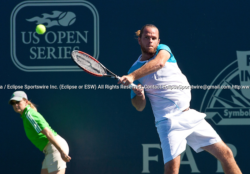 Xavier Malisse(BEL) in the Farmers Classic Tennis tournament at UCLA in Los Angeles, CA 07/26/2011..