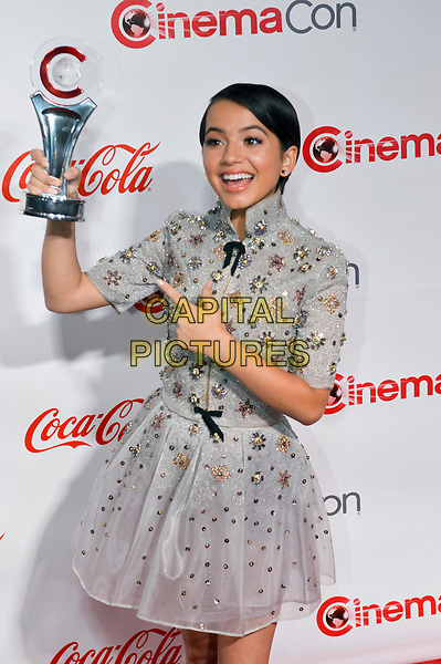 LAS VEGAS, NV - MARCH 30:  Isabela Moner at the CinemaCon Big Screen Achievement Awards  at The Colosseum at Caesars Palace during CinemaCon 2017on March 30, 2017 in Las Vegas, Nevada. <br /> CAP/MPI/KLH<br /> &copy;KLH/MPI/Capital Pictures