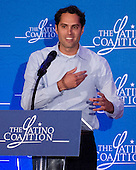 Craig Romney, the youngest son of Mitt and Ann Romney, introduces his Mom at the Latino Coalition Luncheon during the 2012 Republican National Convention in Tampa Bay, Florida on Tuesday, August 28, 2012.  .Credit: Ron Sachs / CNP.(RESTRICTION: NO New York or New Jersey Newspapers or newspapers within a 75 mile radius of New York City)