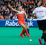 ROTTERDAM - Lieke Hulsen (Ned)   tijdens de Pro League hockeywedstrijd dames, Netherlands v USA (7-1)  ..COPYRIGHT  KOEN SUYK