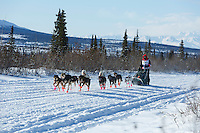 Katie Deits during the 2015 Junior Iditarod start along the Denali Highway <br /> <br /> <br /> <br /> (C) Jeff Schultz/SchultzPhoto.com - ALL RIGHTS RESERVED<br />  DUPLICATION  PROHIBITED  WITHOUT  PERMISSION