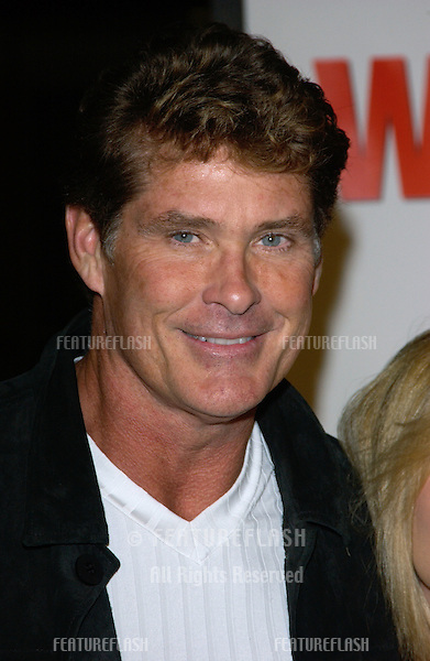 Actor DAVID HASSELHOFF & wife at the world premiere, in Hollywood, of Walking Tall..March 29, 2004