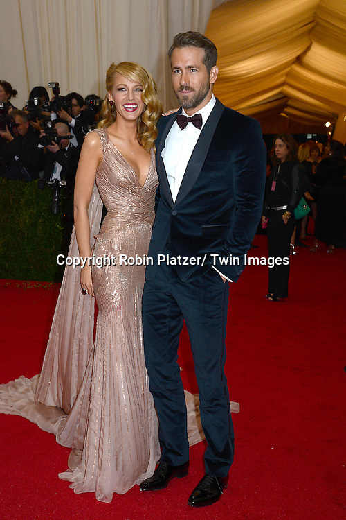 Blake Lively and Ryan Reynolds attends the Costume Institute Benefit on May 5, 2014 at the Metropolitan Museum of Art in New York City, NY, USA. The gala celebrated the opening of Charles James: Beyond Fashion and the new Anna Wintour Costume Center.