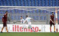 Napoli&rsquo;s Dries Mertens, second from left, celebrates with teammate Marko Rog, second from right, as Roma&rsquo;s Daniele De Rossi, left, and Federico Fazio react after scoring during the Serie A soccer match between Roma and Napoli at the Olympic stadium, 4 March 2017.<br /> UPDATE IMAGES PRESS/Isabella Bonotto