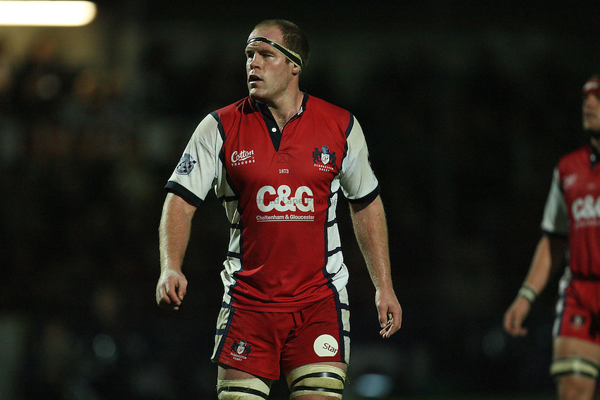 Photo: Rich Eaton...Worcester Warriors v Gloucester Rugby. Guinness Premiership. 13/10/2006. Peter Buxton, captain of Gloucester