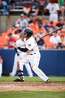 Frederick Keys left fielder Jay Gonzalez (13) at bat during a game against the Carolina Mudcats on June 4, 2016 at Nymeo Field at Harry Grove Stadium in Frederick, Maryland.  Frederick defeated Carolina 5-4 in eleven innings.  (Mike Janes/Four Seam Images)
