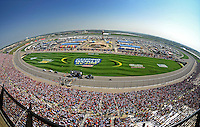 Sept. 28, 2008; Kansas City, KS, USA; Overall view of the track prior to the Camping World RV 400 at Kansas Speedway. Mandatory Credit: Mark J. Rebilas-