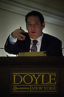 Peter Costanzo Doyle VP, Director takes bids at Doyle's Books, Autographs and Maps before the Auction of important Frida Kahlo archive in New York.  04/15/2015